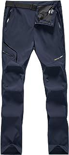 Hombre Pantalones de Trekking Impermeable Invierno Polar Forrado Hombres Pantalones Escalada Senderismo Montaña Aire Libre