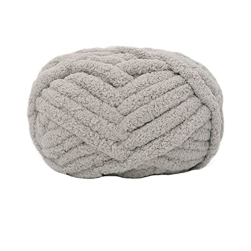 Chunky Knit Chenille Yarn for Hand Knitting Blankets, Super Soft Big Jumbo...