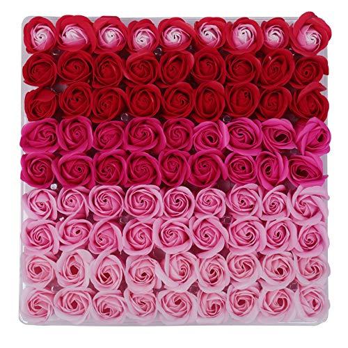 Varadyle 81Pcs Mezcla de Color Rose Bath Body Flower JabóN Floral Perfumado Rose Flower DIY Regalos para el DíA de San ValentíN Wedding Party 2