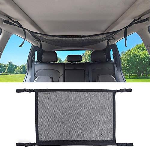 chalkalon Auto Gepäcknetz Mesh Aufbewahrungstasche, Einfache Auto Cargo Universal Netztasche mit Reißverschluss Atmungsaktiv Einstellbar Kleinigkeiten Aufbewahrungstasche