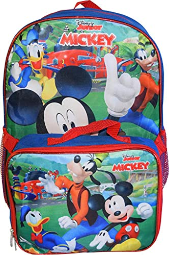 Mickey Mouse 16' Backpack W/Detachable Lunch Box
