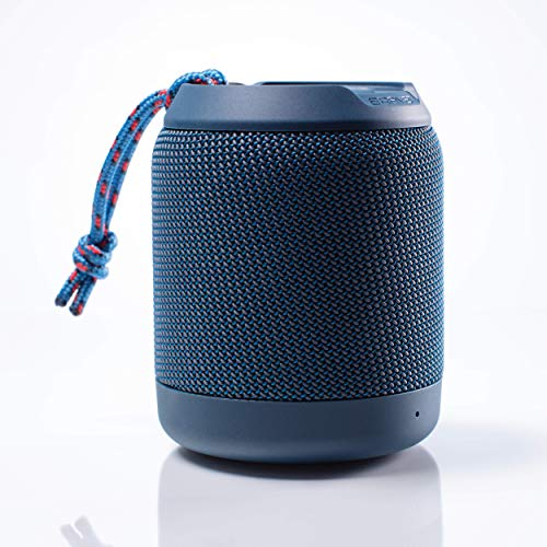 Braven BRV-Mini - Waterproof Speaker - Rugged Portable Wireless Speaker - 12 Hours of Playtime - Blue