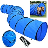 MelkTemn Dog Agility Equipment - Dog Agility Hurdle,Dog Agility Weave Poles,Dog Agility Jump - Canine Agility Set for Pet Dog Outdoor Games Training,Obedience,Rehabilitation with Carrying Bag (Tunnel)