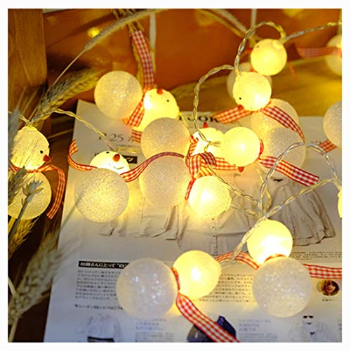 HBGGG Creatieve verlichting, led-kerstlichtsnoer, sneeuwman, snoer, licht-/USB/plug-licht-ruimte-decoratie buitenshuis, geschikt voor slaapkamers en bars