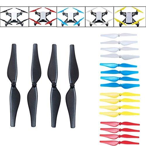 Tello Accesssories 20pcs 5 Color Quick-Release Propellers Props (4pcs Black, 4pcs White, 4pcs Red, 4pcs Yellow, 4pcs Blue)