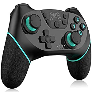Inalámbrico Mando para Nintendo Switch, RegeMoudal Bluetooth Controlador para Switch, Switch Gamepad Joystick con Batería Recargable, Vibración, Turbo, Giroscopio Función para Switch/Lite