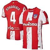 S&L Camiseta Kondogbia Atlético de Madrid Rojo 2021/22 para Hombre & Niño(Rojo,32)