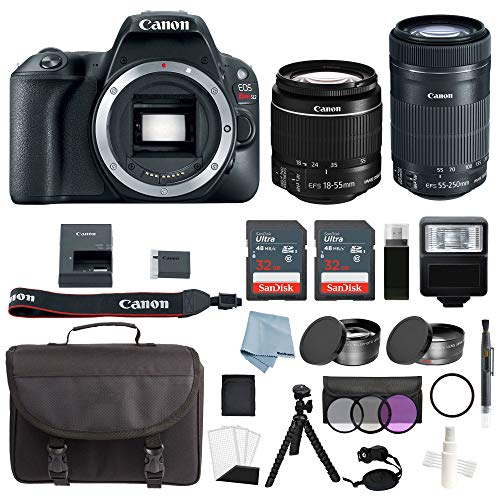 Canon EOS Rebel SL2 Bundle with Canon EF-S 18-55mm is STM & EF-S 55-250mm is STM Lens + Canon SL2 Camera Advanced Accessory Kit - Canon SL2 Bundle Includes to Get Started