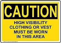 アルミメタルノベルティ危険サイン注意ハイビズの服やベストはテキストで着用する必要があります、アルミメタルの警告サインは家の私道のサインを危険にさらします