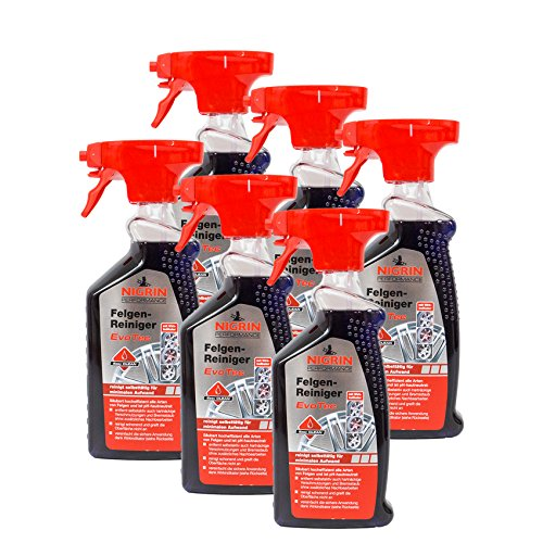 Nigrin 6X 72931 Performance Felgen-Reiniger EvoTec 500 ml