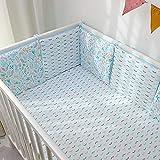 Almohadillas de protección para cuna de bebé, de algodón transpirable para cama de bebé, parachoques de circunferencia, acolchado, lavable, accesorio de cama para niños pequeños para niños y niñas
