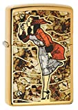 Zippo Lighter: Fusion Windy Girl - High Polish Brass 79950