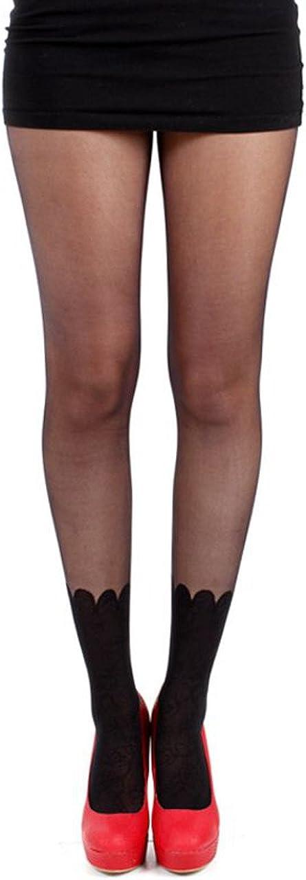 Pamela Mann Lace Ankle Sock Tights - Black