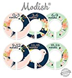 Modish Labels Baby Nursery Closet Dividers, Closet Organizers, Nursery Decor, Baby Girl, Birds, Flowers, Pink, Mint, Navy Blue, Tribal, Woodland
