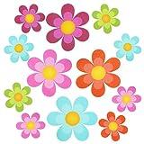 iPobie Adesivi per Vasca da Bagno,20 pezzi Adesivi per Vasca Antiscivolo a Forma di Fiore per Scala, Bagno, Doccia, Cucina,Multicolore