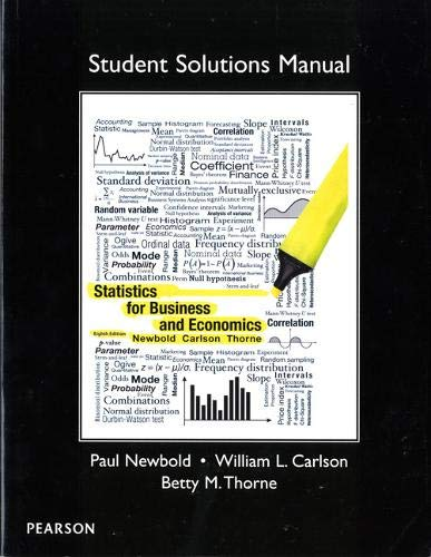 Student Solutions Manual for Statistics for Business and Economics: Stu Sol Manu Sta Bus SSP_p1