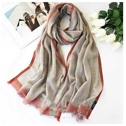 Moda Bufanda Chal De las mujeres clásicas de la bufanda de la cachemira delgada bufandas y Otoño Invierno súper suave chal a cuadros grandes de Manta envuelta Bufanda acogedora ( Color : C )