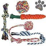 犬ロープおもちゃ 犬おもちゃ 犬用玩具 噛むおもちゃ ペット用 コットン ストレス解消 丈夫 耐久性 清潔 歯磨き 小/中型犬に適用
