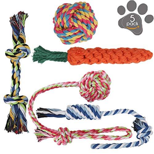 (11個セット) 犬ロープおもちゃ 犬おもちゃ 犬用玩具 噛むおもちゃ ペット用 コットン ストレス解消 丈夫 ...