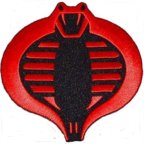 G.I. JOE Cobra Red & Black Embroidered Logo PATCH