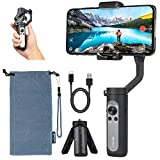 Hohem iSteady X Foldable 3-Axis Gimbal Stabilizer for Smartphone, 0.5lbs Lightweight Handheld Phone Gimbal Youtuber Vlogger Live Video for iPhone 11 Pro Max/11/XS Max/Samsung, Android - Black