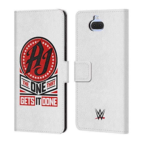Head Case Designs Oficial WWE AJ Estilos consigue es Hecho 2017/18 Superstars 3 Carcasa de Cuero Tipo Libro Compatible con Sony Xperia XA3 Ultra / 10+