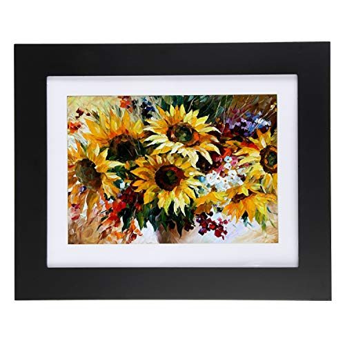 "Easy Change Artwork Frame - Black - Fits 8.5"" x 11"" Artwork. Frame Measures 13.5"" x 11"" x 1 3/4"""