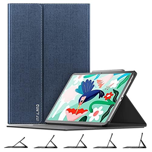 INFILAND Galaxy Tab S7 Fe Case, Copertura Stand ad Angolo Multiplo Compatibile con Samsung Galaxy Tab S7 Fe 12.4 Pollici SM-T730/SM-T735/SM-T736 2021 Release Tablet,Marina Militare