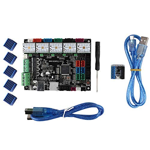OGUAN PCB Board, MKS SGEN L Mainboard Compatible Smoothieware 32-Bit Marlin2.0 Support TMC2208 V1.2 with Tester for 3D Printer Parts Double Sided Prototype