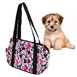 Pssopp Pet Carrier Bag Thicken Portable Outdoor Travel Pet Carrier Single Shoulder Bag Handbag Comfortable Pet Carrier Tote for Small Cats & Dogs