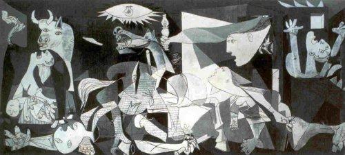 Close Up Guernica Kunstdruck Pablo Picasso (100cm x 50cm) + Ü-Poster
