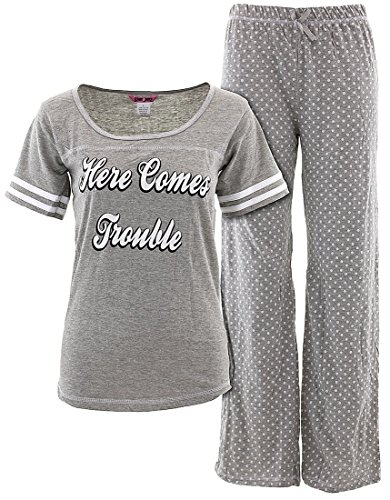 Glam Jamz Juniors Here Comes Trouble Pajamas L
