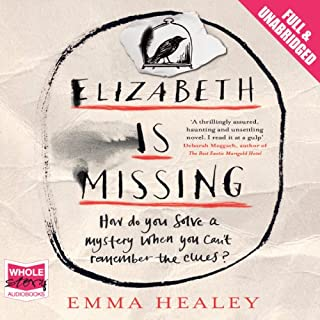 Elizabeth Is Missing                   By:                                                                                                                                 Emma Healey                               Narrated by:                                                                                                                                 Anna Bentinck                      Length: 11 hrs and 31 mins     2,266 ratings     Overall 4.2