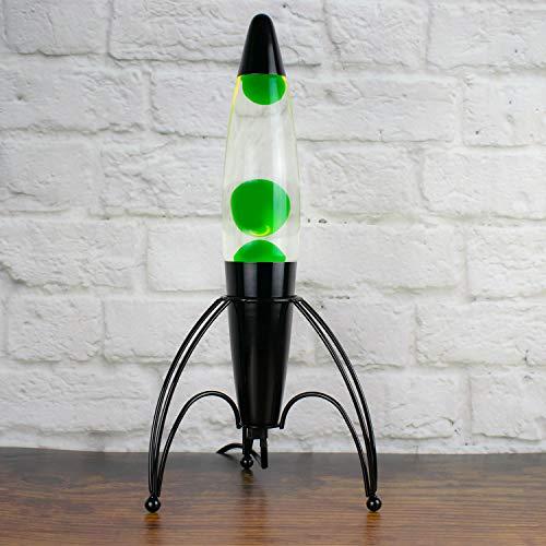 The Glowhouse Premium Lavalampe Rakete, Neongrün