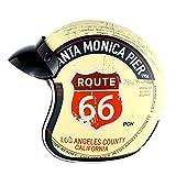 RTGE Motocicleta Casco Jet Adulto Dot Certificado Cruiser Chopper Piloto Patineta Bicicleta Eléctrica Coche 3/4 Medio Abierto Casco Protector (5 Estilos),Route 66,59~60cm XXL
