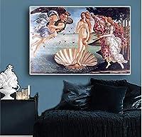 アートパネル アートポスター 飾り絵 ヴィーナスの誕生油絵キャンバスキャンバスクラシックスカンジナビアの写真 リビングルームダイニング 寝室壁絵 アートフレーム インテリア キャンバス絵画 (額縁なし)