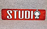 Metal Sign Recording Studio Sound Mixing Audio Engineer Music Technician Sound Control Room Musician Microphone Aluminum,Vintage Metal Signs Tin Plaque Wall Art Poster 12'x3'