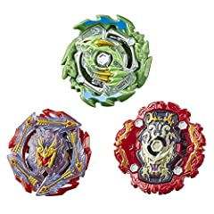 3 BEYBLADE BURST COMPETITIVE BATTLING TOPS: Includes Beyblade Burst Rise Hypersphere Ace Dragon D5 attack type top and Rudr R5 balance top (right-spin), and Viper Hydrax H5 defense top (left-spin) DROP IN TO VICTORY: Battle in a Hypersphere Beystadiu...