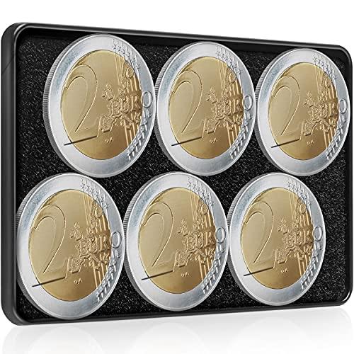 Lautloses Münzfach für Slim Wallets - Coin Case/Coin Card für 12€ Münzwert –Kleingeld Aufbewahrung u. Universales Kleingeldfach für Kreditkartenetuis, Mini Wallets, Kartenetuis, Geldbeutel