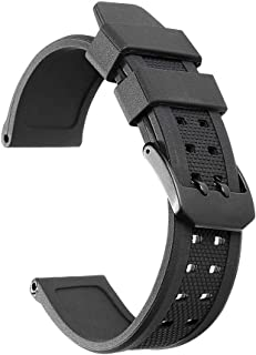 iStrap Replacement for Luminox Silicone Watch Band 23mm Rubber Strap for 3050 3080 and 3950 Series
