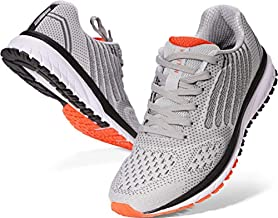 Joomra Mens Lightweight Tennis Shoes Arch Supportive Running Walking Fitness Size 12 Cushioned Cross Training Footwear for Man Runny Athletic Workout Sneakers Gray 46