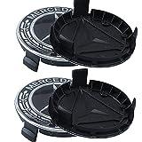 QMMYA Set da 4 di Coprimozzi Logo in Lega Coprimozzo Centro con Logo Cerchioni in ABS per Mercedes Benz Ruote Accessorio Decorativo 75mm, Black