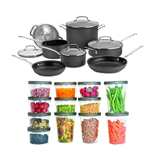 Cuisinart 66-11 Chef's Classic Nonstick Hard-Anodized 11-Piece Cookware Set...