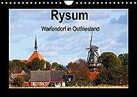 Rysum - Warfendorf in Ostfriesland (Wandkalender 2022 DIN A4 quer): In dreizehn fantastischen Fotos zeigt der Fotograf Rolf Poetsch Bilder aus dem Warfendorf Rysum. (Monatskalender, 14 Seiten )