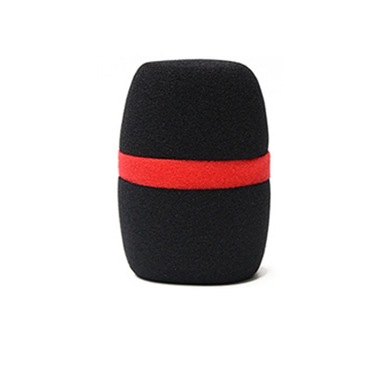 Color Mic Foam Windscreen with Color Line (Black-Red)