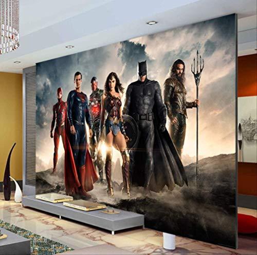 Benutzerdefinierte 3d Tapete Justice League Wandbild Superman Batman Foto Tapete Kinder Schlafzimmer Büro Hotel Wohnzimmer Kindergarten Breite300cm * Höhe210cm pro