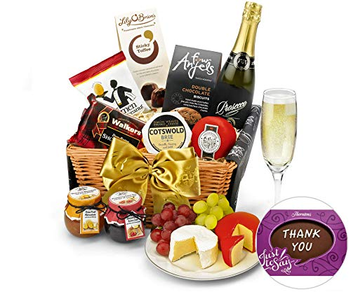 Thank You Downton Hamper With Prosecco
