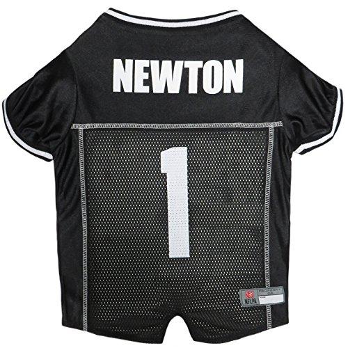NFLPA Dog Jersey - CAM Newton #1 Pet Jersey - NFL Carolina Panthers Mesh Jersey, X-Small