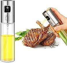 Oil Sprayer Olive Oil Sprayer for Cooking Refillable Oil and Vinegar Dispenser Bottle for Grilling, Salad Making, Cooking, Baking, Roasting, Grilling