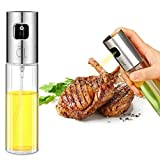 Oil Sprayer Olive Oil Sprayer for Cooking Refillable Oil and Vinegar Dispenser Bottle for Grilling, Salad Making, Cooking, Baking, Roasting, Grilling